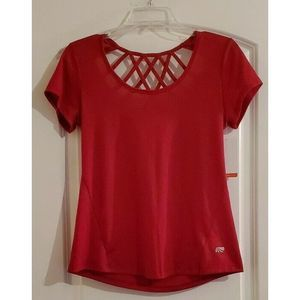 NWT Marika Dry Wik Open Back Athletic Top